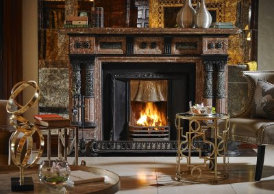 Hayfield Manor Lobby Fireplace